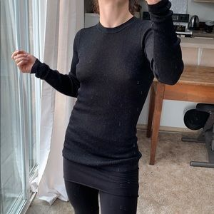 Vince Sub Shine Semi Sheer Ribbed Sweater
